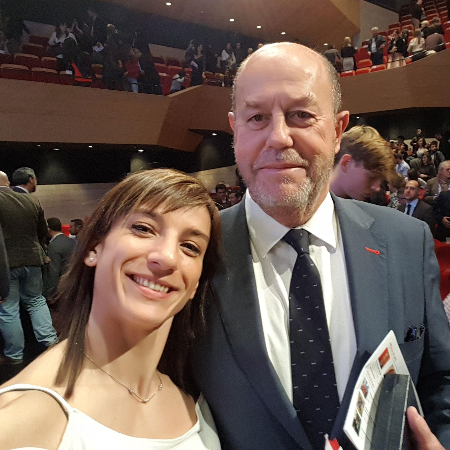 Con Antonio Espinós, presidente de la WKF