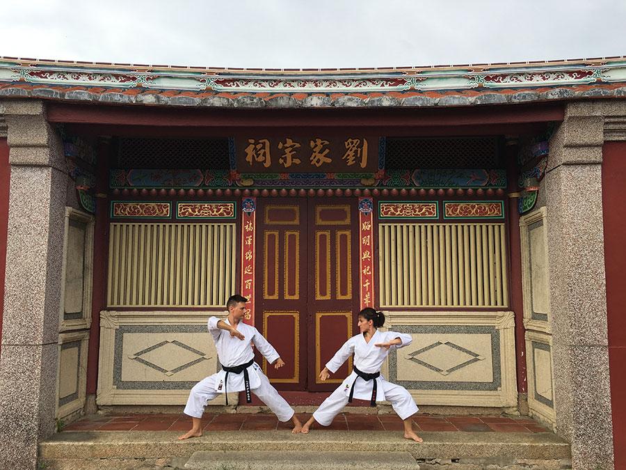 Sandra Sánchez y Jesús del Moral en la cuna del karate