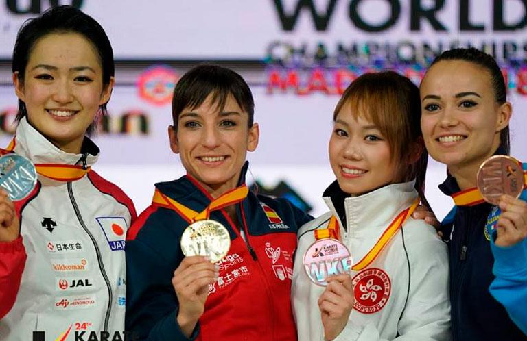 Sandra Sánchez, campeona del mundo de karate