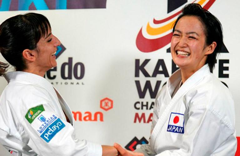 Sandra Sánchez con Kiyou Shimizu
